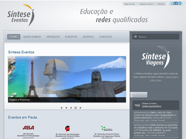 SINTESE EVENTOS WEB